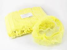 Шапочки одноразовые (гармошка), жёлтые, 100 шт