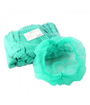Шапочки одноразовые (гармошка), зелёные, 10 шт