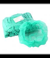 Шапочки одноразовые (гармошка), зелёные, 10 шт, фото 1