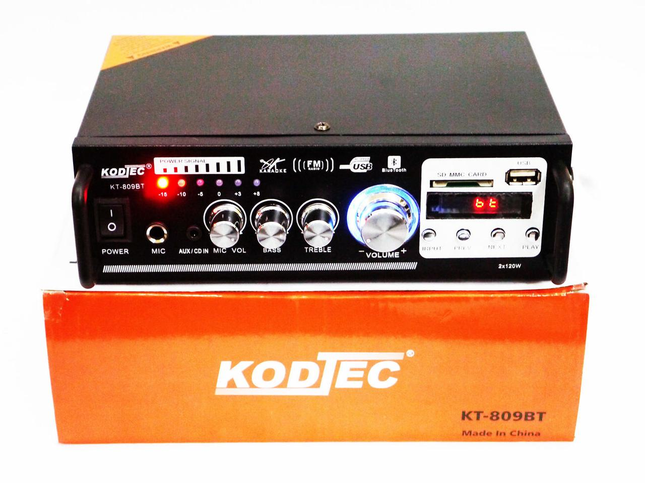 Усилитель звука KT-809BT Bluetooth+Караоке