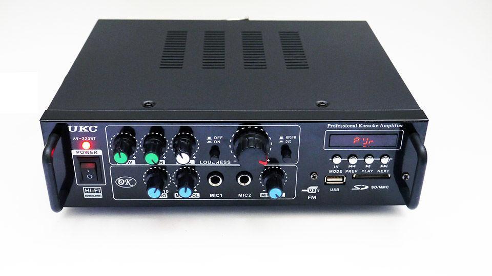 Усилитель звука  UKC AV-323BT + Караоке на 2 микрофона