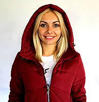 Женская зимняя курточка бордового цвета