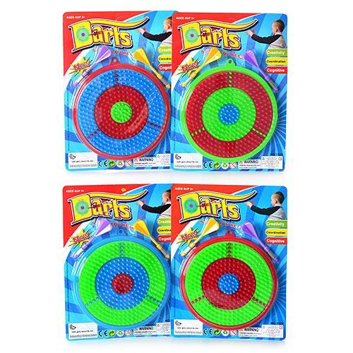 Дартс M 1968  17см, дротики с иглой 2шт, пластик, 4 цвета, на листе, 27-19,5-2,5см