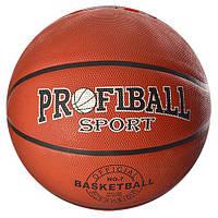 Мяч баскетбольный EN 3225  размер7,резина,Profiball, 580 600г