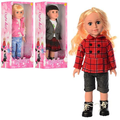 Кукла DEFA 5501  45см, 3 вида, в кор-ке,22-49-11,5см
