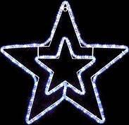 Гирлянда Мотив Звезда уличная, 50 см, светодиодная, цвет белый холодный