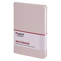 Книга записная Axent Partner Lace 8208-33-A, 125х195 мм, клетка, бежевая