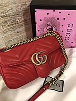 Яркая женская Сумочка на плечо Gucci 'GG Marmont' 22 cm
