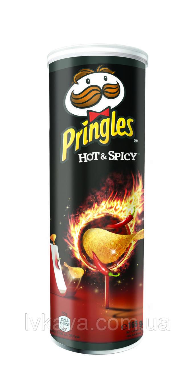 Чипсы  Pringles  Hot & Spicy, 165 гр