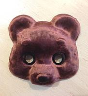 Маска детская Медвежонок Темно-коричневый, пр-во Украина