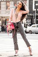 Женское замшевое боди на шнуровке, 2 цвета