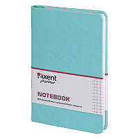 Книга записная Axent Partner Lace 8208-16-A, 125х195 мм, клетка, бирюзовая