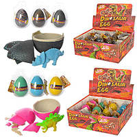 Яйцо 9019B-20B  6см, динозавр-растущий, в слюде, 2вида, 12штв дисплее, 23,5-16-9см