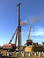 Забивка свай сечением 350х350 мм
