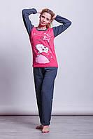Теплая байковая женская пижама Турция LA-1002