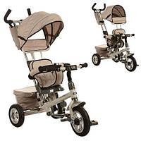 Велосипед M 3206A три кол,резина,поворот,быстросъем,кол,/руль,сумка,бежевый