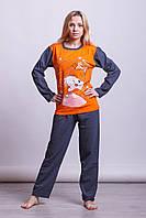 Теплая байковая женская пижама Турция LA-1003