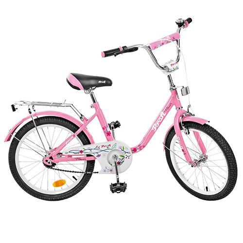 Велосипед детский PROF1 20д. L2081  Flower, розовый,зеркало,звонок,подножка