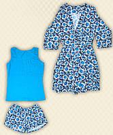 TM Dresko Комплект женский: халат + пижама реактив (70011)