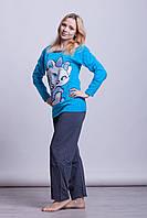 Теплая байковая женская пижама Турция LA-1004