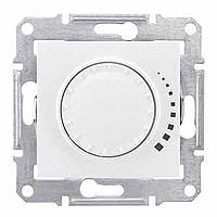 Светорегулятор (диммер) индуктивный поворотно-нажимной проходной белый