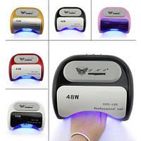 УФ лампа для ногтей сушилка 48Вт CCFL+LED UV таймер 18K. Хорошее качество. Практичный дизайн. Код: КДН2445