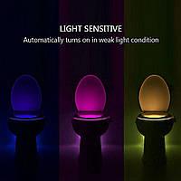 Подсветка LED для унитаза внутренняя с датчиком движения и освещения LightBowl