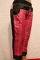 Спортивные штаны девичьи на флисе зимние от 1 до 5 лет на рост 86-116см. Фирма-B&Q Польша.