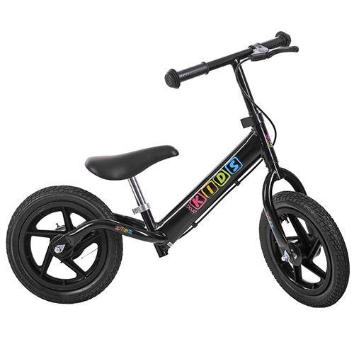 Беговел PROFI KIDS детский 12 д. M 3436AB-1  колеса резина,пласт.обод,тормоз,подножка,черный