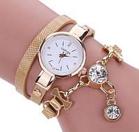 Женские часы браслет длиный ремешок