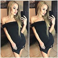 Платье клубное черное