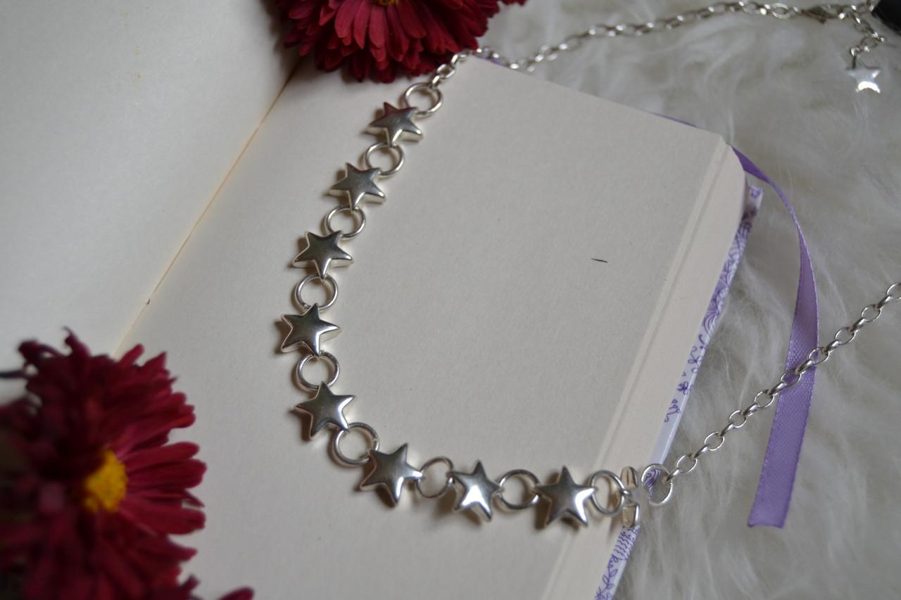 Колье с  покрытием стерлингового серебра Pilgrim