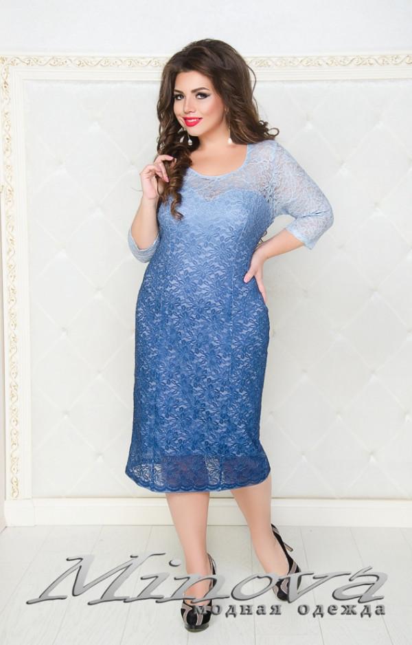 Нарядное платье гипюр большого размера от ТМ Minova новая коллекция ( р. 50-58 )