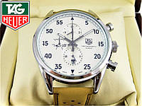 Часы Tag Heuer Space X ELITE Silver/White (Механика). Класс: ААА.
