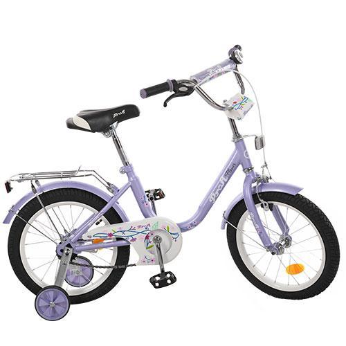 Велосипед детский PROF1 16д. L1683  Flower, фиолетовый,зеркало,звонок,доп.колеса