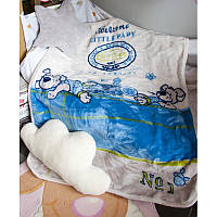 Детский плед в кроватку Karaca Home Mr.Pati акрил голубой 100*120