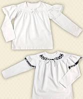 TM Dresko Блуза Школьная с вышивкой и кружевом фуликра (60136)