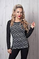 Стильна жіноча кофточка з принтом Шанель, фото 1