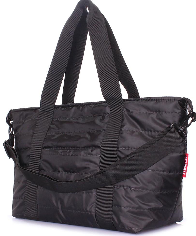 Молодіжна стьобана сумка POOLPARTY Air, air-black, чорна