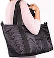 Молодіжна стьобана сумка POOLPARTY Air, air-black, чорна, фото 4