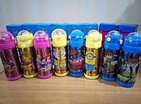 Термос детский с трубочкой 350 мл бутылочка нержавейка Акция !!!