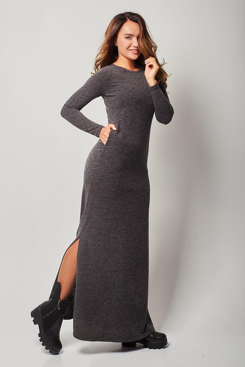 Купить Теплое Платье С Длинным Рукавом