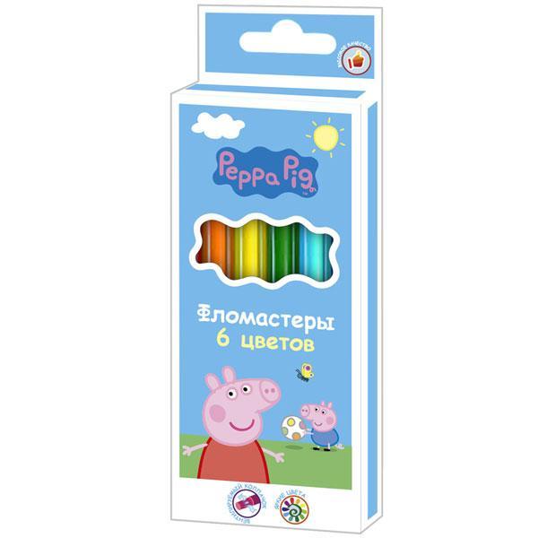 Фломастери 6 кольорів, ТМ Peppa Pig