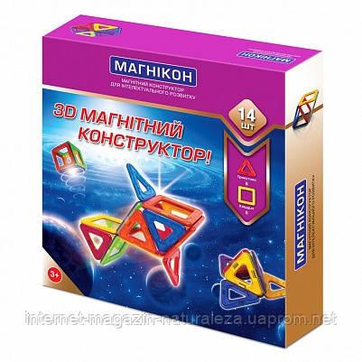 Магнитный конструктор Магникон 14 деталей, фото 2