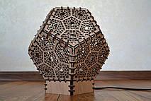 """Декоративный ночник из дерева """"Додекаэдр"""""""