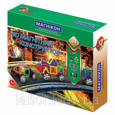 Магнитный конструктор Магникон 34 деталей