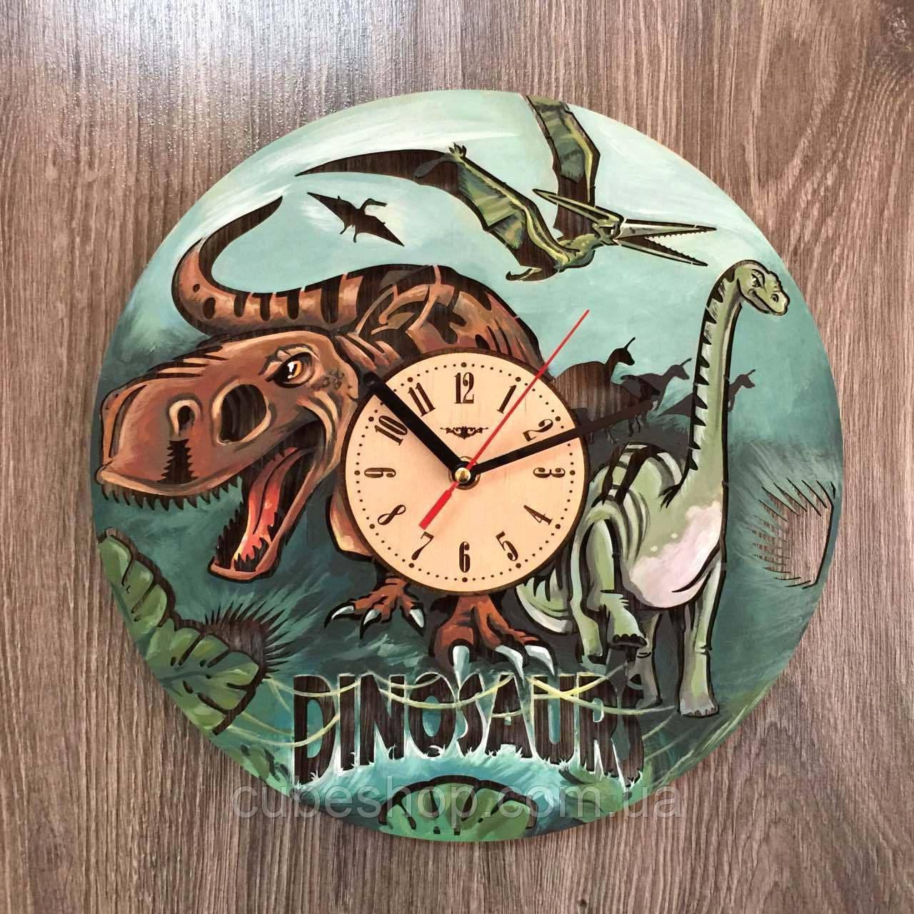 Цветные детские настенные часы Эпоха динозавров