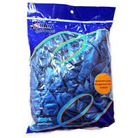 Кульки повітряні, перламутр, 30см, 12/MY-100, блакитні, 100шт/уп. Leader