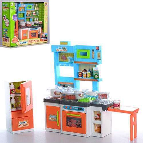 Мебель K1502A-2  кухня,24,5-29,5-8,5см,холодильник,дверцы откыв, посуда,продук,в кор,38-34-11см