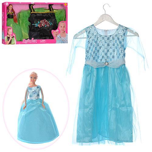 Кукла DEFA 8333  29см, платье 83,5см  для девочки , 2 вида, вкор-ке,55,5-32-5,5см